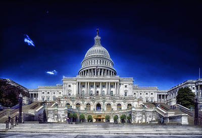 United States Capitol Building Poster by Mountain Dreams