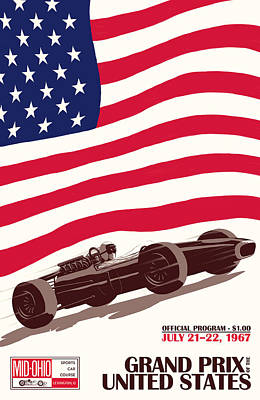 United States Grand Prix 1967 Poster by Georgia Fowler
