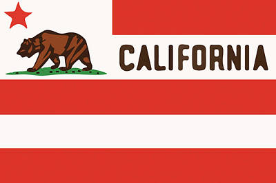United States Of California Flag Poster by Jera Sky