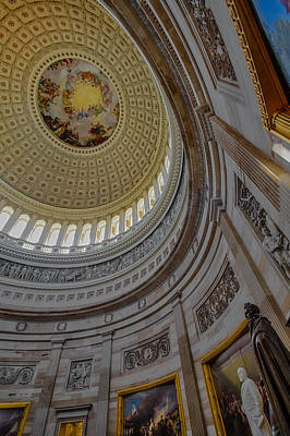 Unites States Capitol Rotunda Poster by Susan Candelario