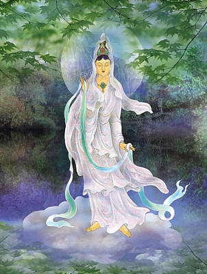 Poster featuring the photograph Universal Kuan Yin by Lanjee Chee
