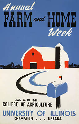 Poster featuring the painting University Of Illnois Farm And Home Week by American Classic Art
