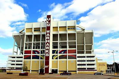 University Of Louisiana At Monroe Malone Stadium Poster by Kathy  White