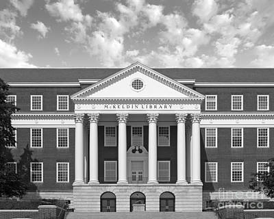University Of Maryland Mc Keldin Library Poster by University Icons