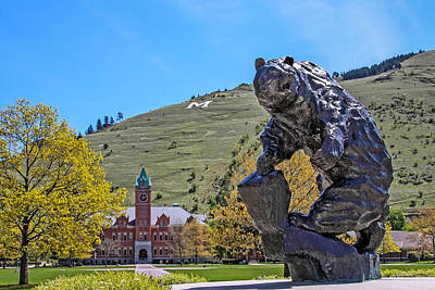 University Of Montana 1 Poster by Keith R Crowley