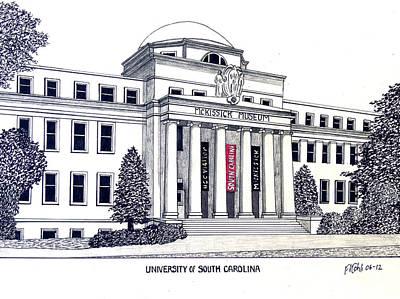 University Of South Carolina Poster by Frederic Kohli