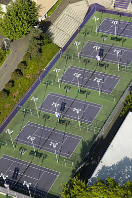 University Of Washington Tennis Courts Poster by Andrew Buchanan/SLP