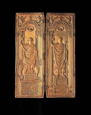 Unknown, Ivory Diptych With David Poster by Everett