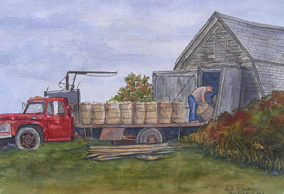 Unloading At The Potato House Poster by Paula Robertson