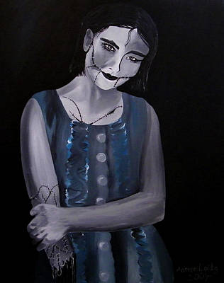 Untitled  04 Zombie Doll Painting Poster by Aarron  Laidig