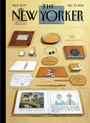 New Yorker December 10th, 2012 Poster by Saul Steinberg