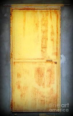 Unused Door Poster by Clare Bevan