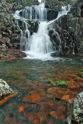 Upper Mina Sauk Falls In Missouri Ozarks Poster by Greg Matchick