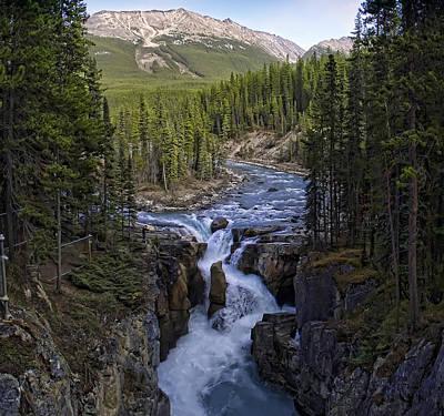 Upper Sunwapta Falls - Canadian Rockies Poster by Daniel Hagerman