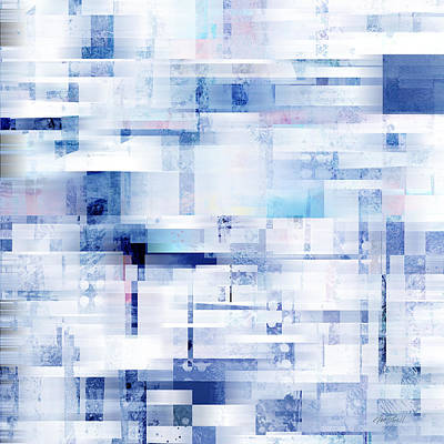 Uptown Blues On Square -abstract -art Poster by Ann Powell