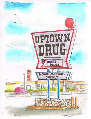 Uptown Drug Sing In Route 66, Andy Devine Ave., Kingman, Arizona Poster by Carlos G Groppa