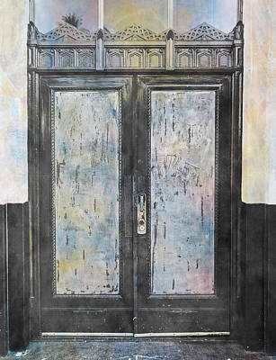 Poster featuring the photograph Urban Bank Doorway by John Fish