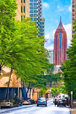 Urban Canyons Of Atlanta Poster
