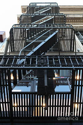 Urban Fabric - Fire Escape Stairs - 5d20592 Poster