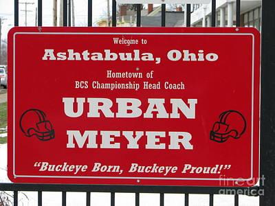 Urban Meyer Poster by Michael Krek