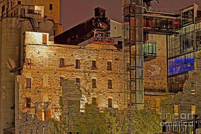 Urban Ruins At Night Poster