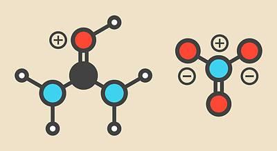 Urea Nitrate Explosive Molecule Poster by Molekuul