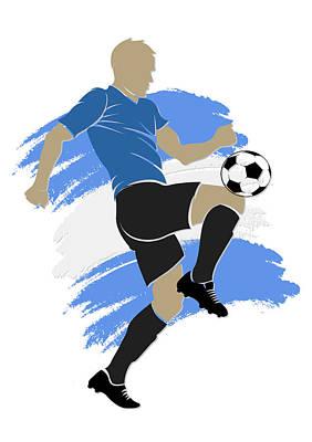 Uruguay Soccer Player Poster