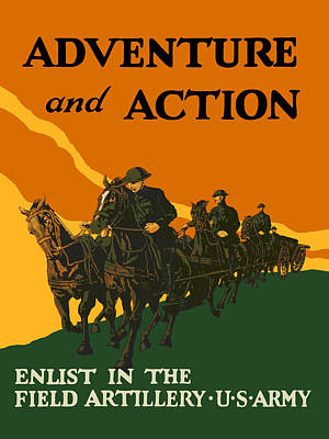 U.s. Army - Action And Adventure Poster by God and Country Prints