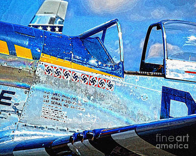 Us Army P51d Poster by Diane E Berry