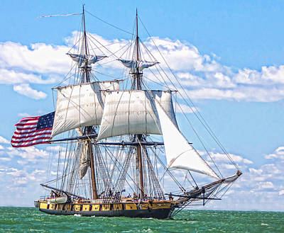 Poster featuring the photograph Us Brig Niagara  by Brent Durken