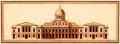 U.s. Capitol Design 1791 Poster