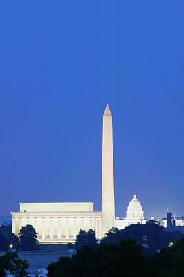 Us Capitol, Washington Monument Poster