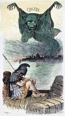 U.s. Cartoon: Cholera, 1883 Poster