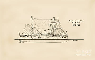 U. S. Coast Guard Cutter Itasca Poster by Jerry McElroy - Public Domain Image