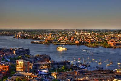 Us Coast Guard On Boston Harbor 2 Poster by Joann Vitali