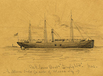 U.s. Gun Boat Daylight, Between 1860 And 1865 Poster by Quint Lox