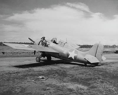 U.s. Marine Corps F4f Wildcat Fighter Poster
