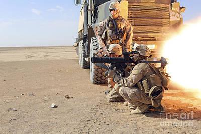 U.s. Marines Conduct A Rocket Range Poster