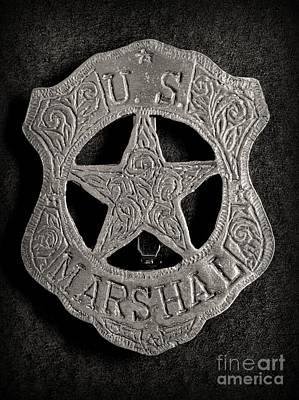 Us Marshal - Law Enforcement - Badge - Cowboy Poster