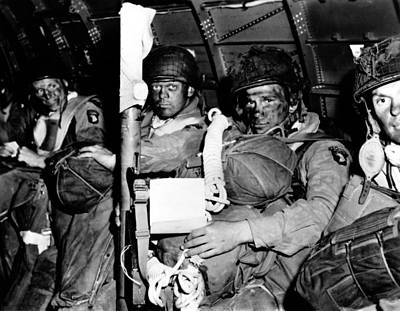 U.s. Paratroopers With Blackened Faces Poster by Everett