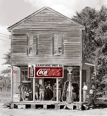 U.s. Post Office General Store Coca-cola Signs Sprott  Alabama Walker Evans Photo C.1935-2014. Poster by David Lee Guss