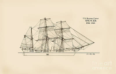 U. S. Revenue Cutter Spencer Poster by Jerry McElroy - Public Domain Image