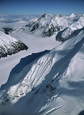 Usa, Alaska, Peters Glacier, Aerial Poster