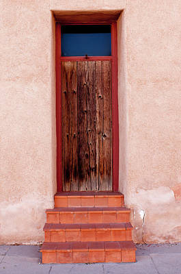 Usa, Arizona, Tucson, Barrio Vijo Door Poster by Peter Hawkins