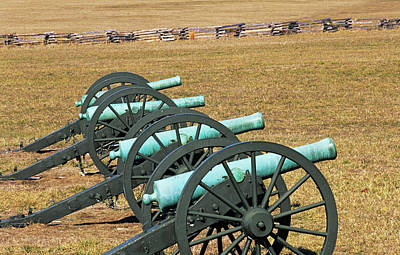 Usa, Arkansas Civil War Cannons At Pea Poster