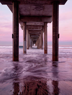 Usa, California, La Jolla, Dawn Poster by Ann Collins