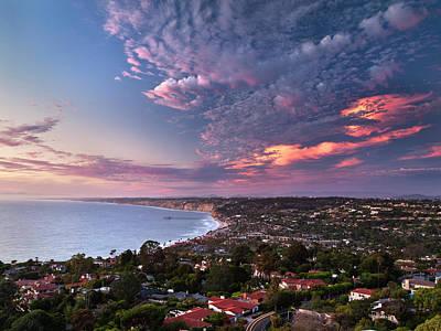 Usa, California, La Jolla, View Of La Poster by Ann Collins