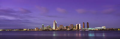 Usa, California, San Diego, Dusk Poster by Panoramic Images