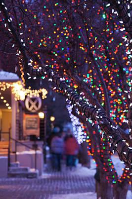 Usa, Colorado, Aspen, Christmas Tree Poster by Walter Bibikow
