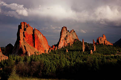 Usa, Colorado, Garden Of The Gods Poster by Jaynes Gallery